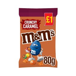 M&M's Crunchy Caramel Chocolate £1 PMP Treat Bag 80g