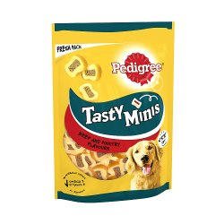 Pedigree Tasty Minis Adult Dog Treats Chewy Slices with Beef & Poultry 155g