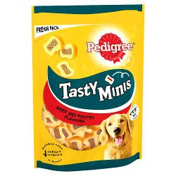 Pedigree Tasty Bites Chewy Slices Dog Treats with Beef 155g