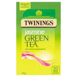 Twinings Jasmine Green Tea 20 Single Tea Bags 50g