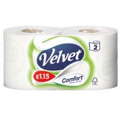 Velvet Comfort 2 Toilet Rolls