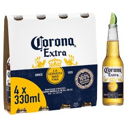 Corona Lager Beer Bottles 4 x 330ml