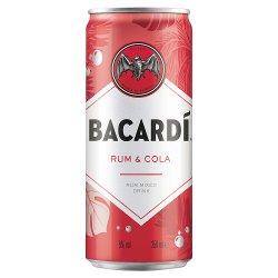 Bacardí Carta Blanca and Cola Rum Mixed Drink 250ml