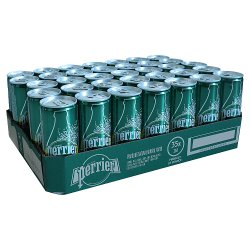 Perrier Sparkling Natural Mineral Water Can 35x250ml