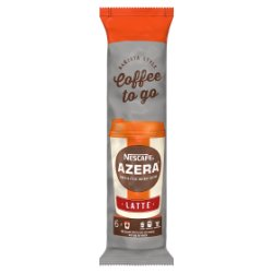 NESCAFÉ Azera To Go Latte Instant Coffee, Sleeve of 6 Cups with Lids