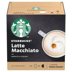 STARBUCKS by NESCAFÉ DOLCE GUSTO Latte Macchiato Coffee Pods, Box of 6+6, 129g
