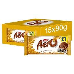Aero Caramel Chocolate Sharing Bar 90g £1