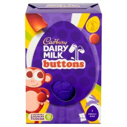 Cadbury Dairy Milk Buttons Easter Egg & Chocolate Bag 74g