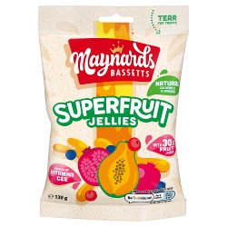 Maynards Bassetts Super Fruit Jellies Sweets Bag 130g