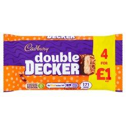 Cadbury Double Decker Chocolate Bar 4 Pack £1 149.2g