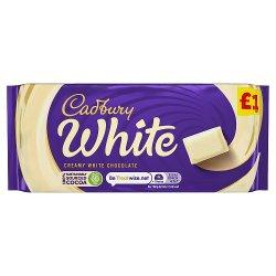 Cadbury White Chocolate Bar £1 90g
