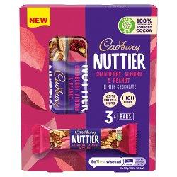 Cadbury Nuttier Cranberry, Almond & Peanut Chocolate Bar 120g