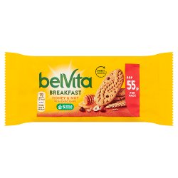 Belvita Breakfast Biscuits Honey and Nuts with Choc Chips 55p 50g