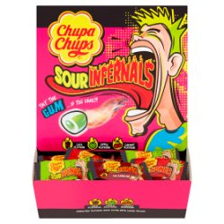 Chupa Chups Sour Infernals Assorted Flavour Sour Gums with Liquid Filling 693g