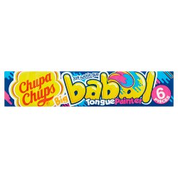Chupa Chups Big Babol Blue Raspberry Flavour Soft Bubble Gum 6 Pieces 27.6g
