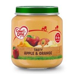 Cow & Gate Tasty Apple & Orange Fruit Puree Jar 125g
