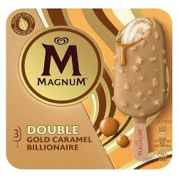 Magnum Double Gold Caramel Billionaire Ice Cream 3 x 85 ml