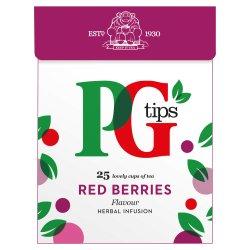 PG tips Fruit & Herbal Tea Red Berries Flavour 25 Tea Bags