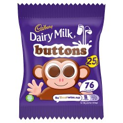 Cadbury Dairy Milk Buttons 25p Chocolate Bag 14.4g