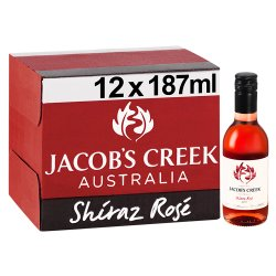 Jacob's Creek Shiraz Rosé Wine 12 x 187ml