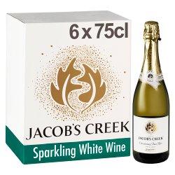 Jacob's Creek Brut Cuvée Sparkling White Wine 6 x 75cl
