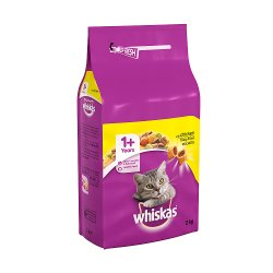 Whiskas Adult 1+ Complete Dry Cat Food with Chicken 2kg