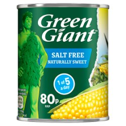 Green Giant Salt Free Sweetcorn 198g