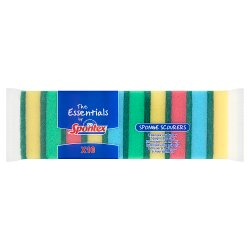 The Essentials by Spontex 10 Sponge Scourers
