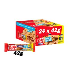 Kit Kat Chunky Cookie Dough Milk Chocolate Bar 42g PMP 2 for £1