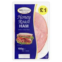 Delicatessen Fine Eating Honey Roast Ham 5 Slices 100g