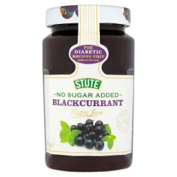 Stute No Sugar Added Blackcurrant Extra Jam 430g