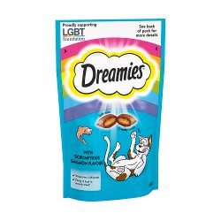 Dreamies Adult 1+ Cat Treats with Salmon 60g