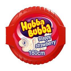 Hubba Bubba Snappy Strawberry Bubblegum Mega Long Tape 56g