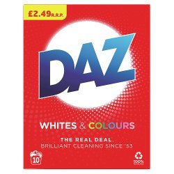 Daz Washing Powder Whites & Colours 650G, 10 Washes