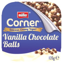 Müller Corner Vanilla Yogurt with Chocolate Balls 135g
