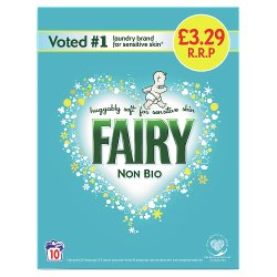 Fairy Non Bio Washing Powder 650g 10 Washes, Voted #1 for Sensitive Skin
