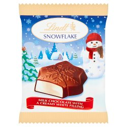 Lindt Snowflake Milk Chocolate With A Creamy Filling 20g