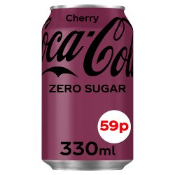 Coca-Cola Zero Sugar Cherry 330ml PMP 59p