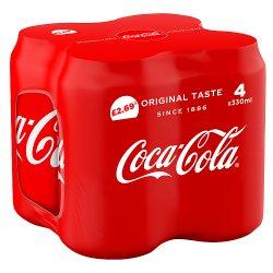 Coca-Cola Original Taste 4 x 330ml PM £2.69