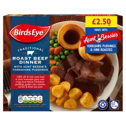 Birds Eye Traditional Roast Beef Dinner with Yorkshire Puddings 400g