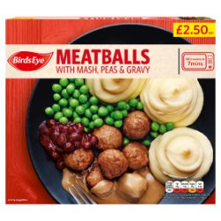 Birds Eye Meatballs with Mash, Peas and Gravy 400g