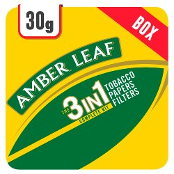 Amber Leaf Original 3 in 1 Tobacco Papers Filters 6 x 30g Track & Trace Compliant