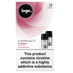 Logic Compact E-Liquid Pods Cherry Flavour 12mg 2 x 1.7ml
