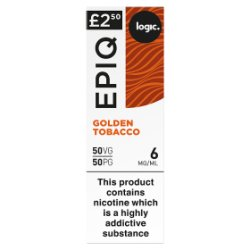 Logic Epiq Golden Tobacco 6mg/ml 50VG/50PG 10ml