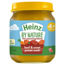 Heinz 4+ Months By Nature Beef & Sweet Potato Mash 120g