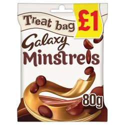 Galaxy Minstrels Chocolate Price Marked Treat Bag 80g