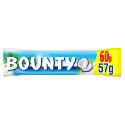 Bounty Coconut Milk Chocolate £0.60 PMP Duo Bar 57g
