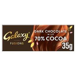 Galaxy Fusions Dark Chocolate 70% Cocoa Bar 35g