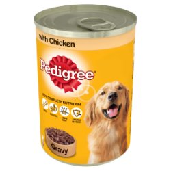 PEDIGREE Dog Tin with Chicken in Gravy 400g (MPP 75p / 2 for £1.40)