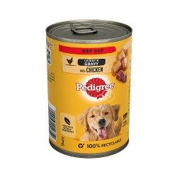 Pedigree Adult Wet Dog Food Tin with Chicken in Gravy 400g (PMP 95p)